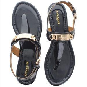 Coach   Caterine Flat Slingback Sandal